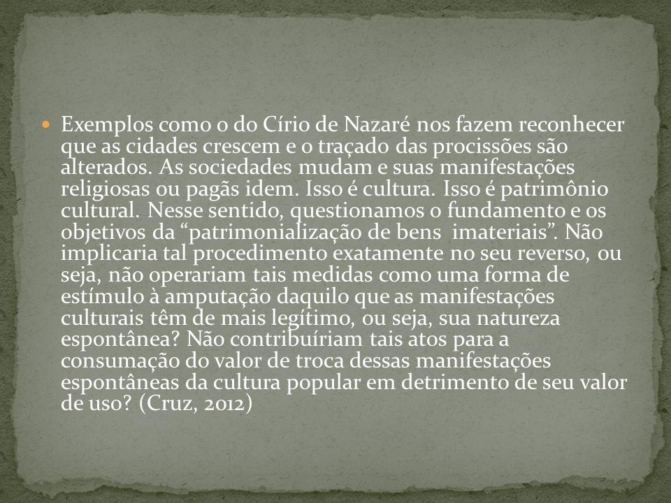 Exemplos como o do Círio de Nazaré nos fazem reconhecer que as cidades crescem e o traçado das procissões são alterados.