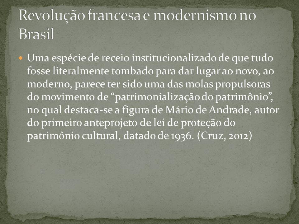 Revolução francesa e modernismo no Brasil