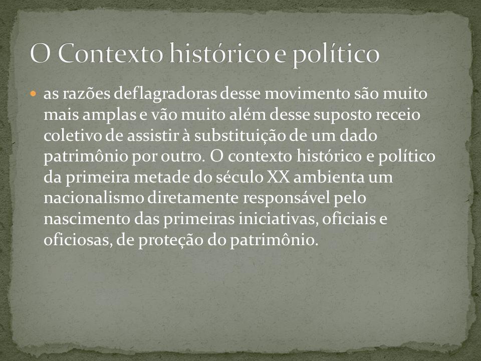 O Contexto histórico e político