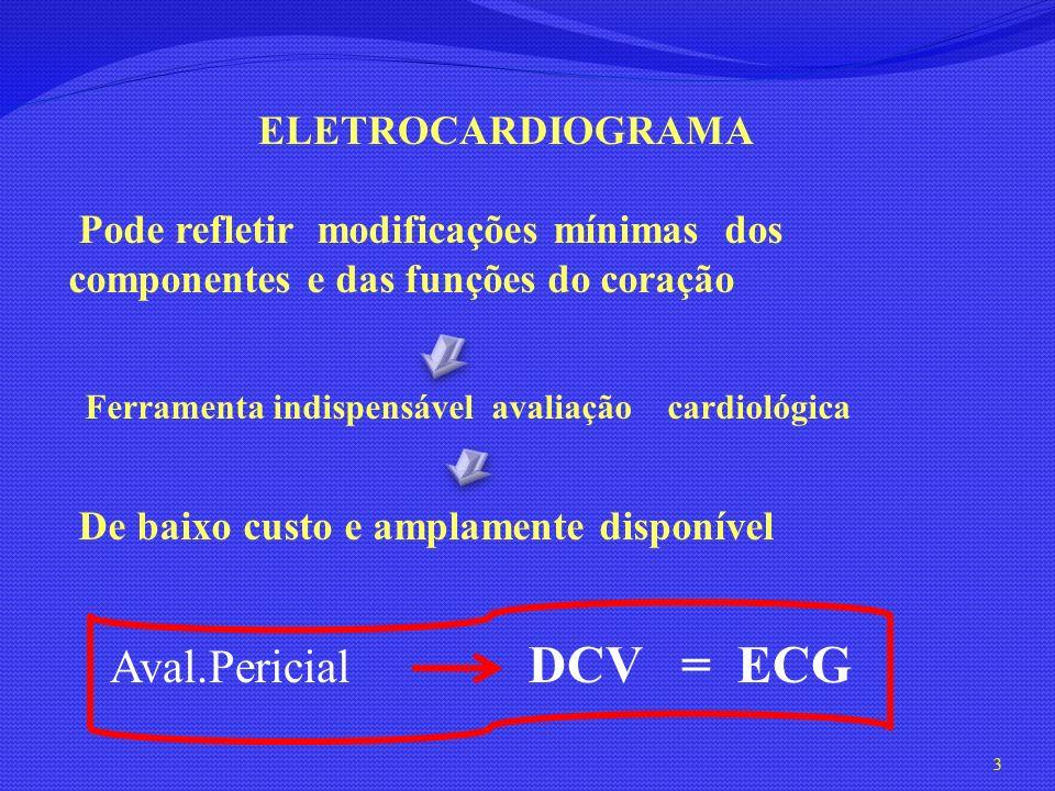 Aval.Pericial DCV = ECG ELETROCARDIOGRAMA