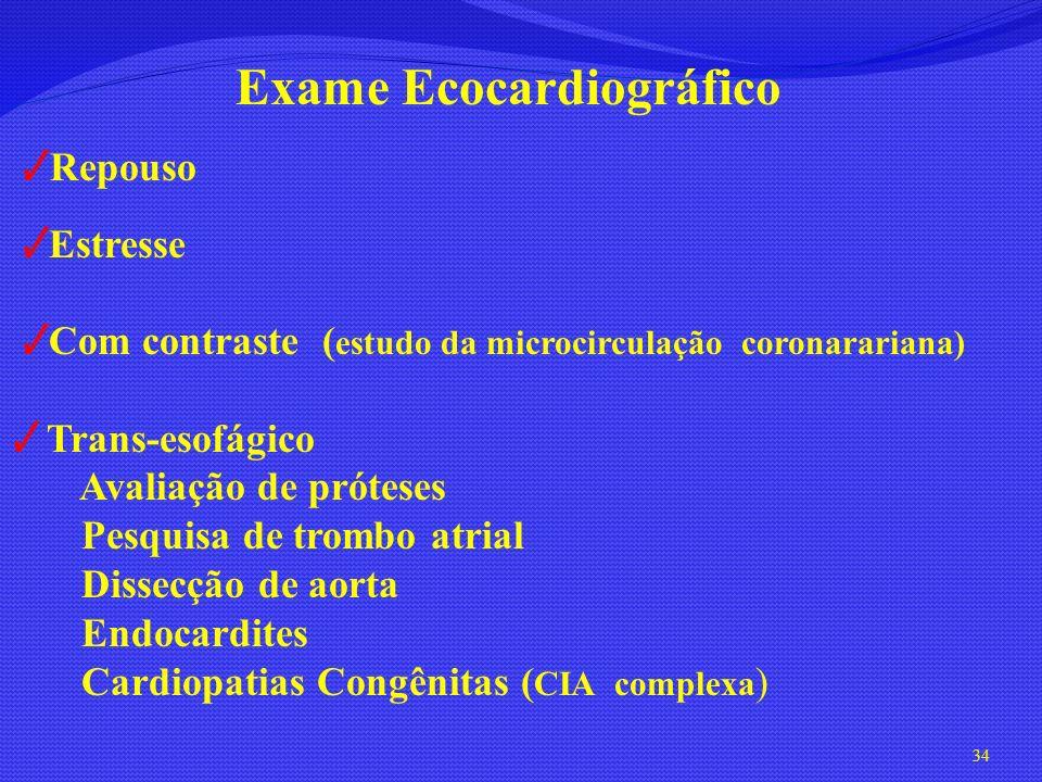 Exame eco estresse