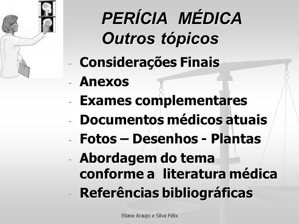 PERÍCIA MÉDICA Outros tópicos