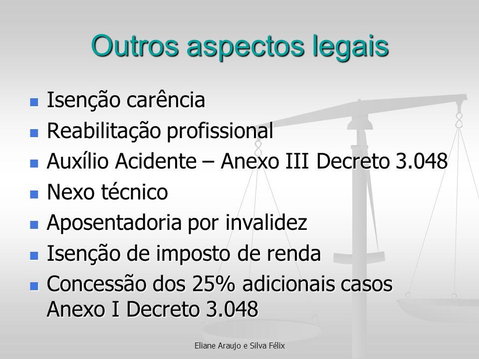 Outros aspectos legais