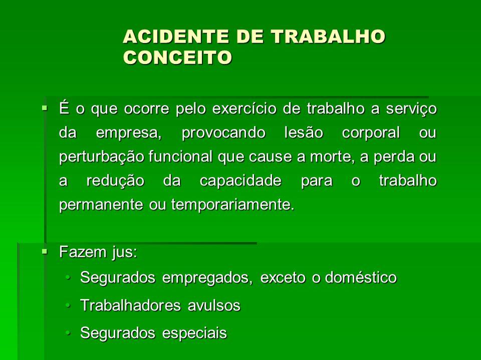 ACIDENTE DE TRABALHO CONCEITO