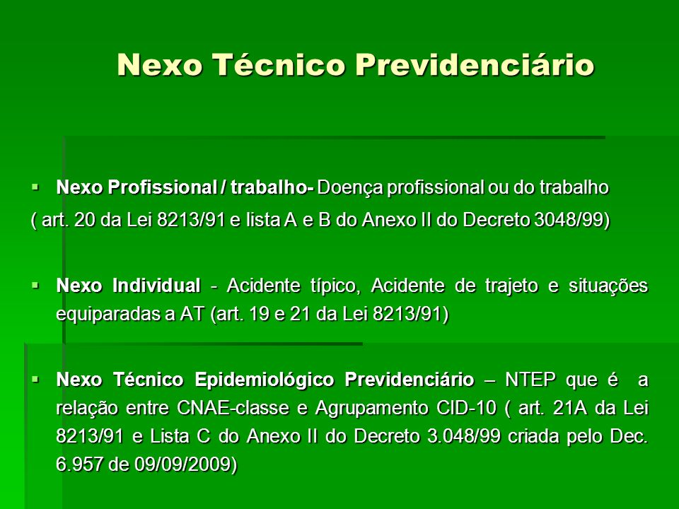 Nexo Técnico Previdenciário