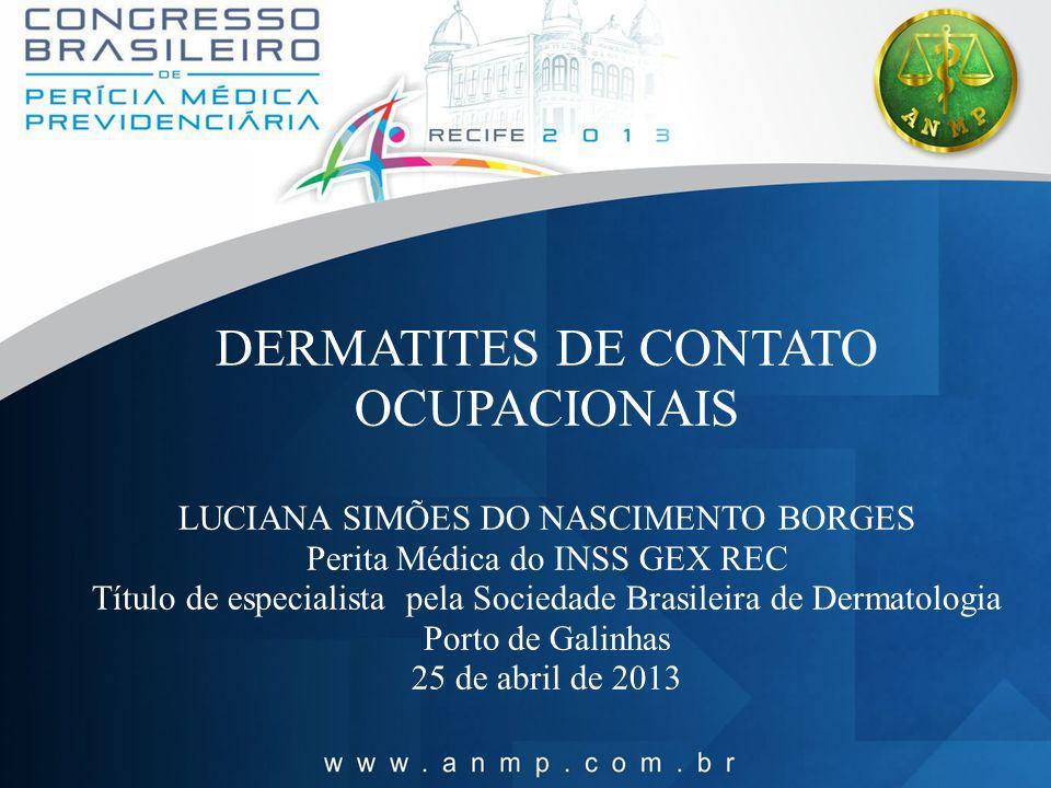 DERMATITES DE CONTATO OCUPACIONAIS