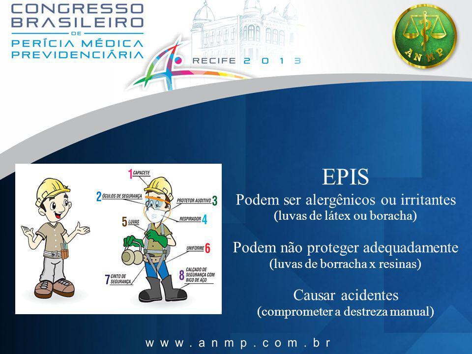 EPIS Podem ser alergênicos ou irritantes