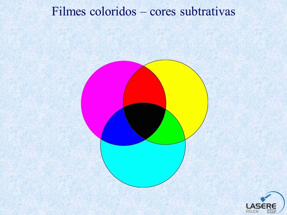 Filmes coloridos – cores subtrativas