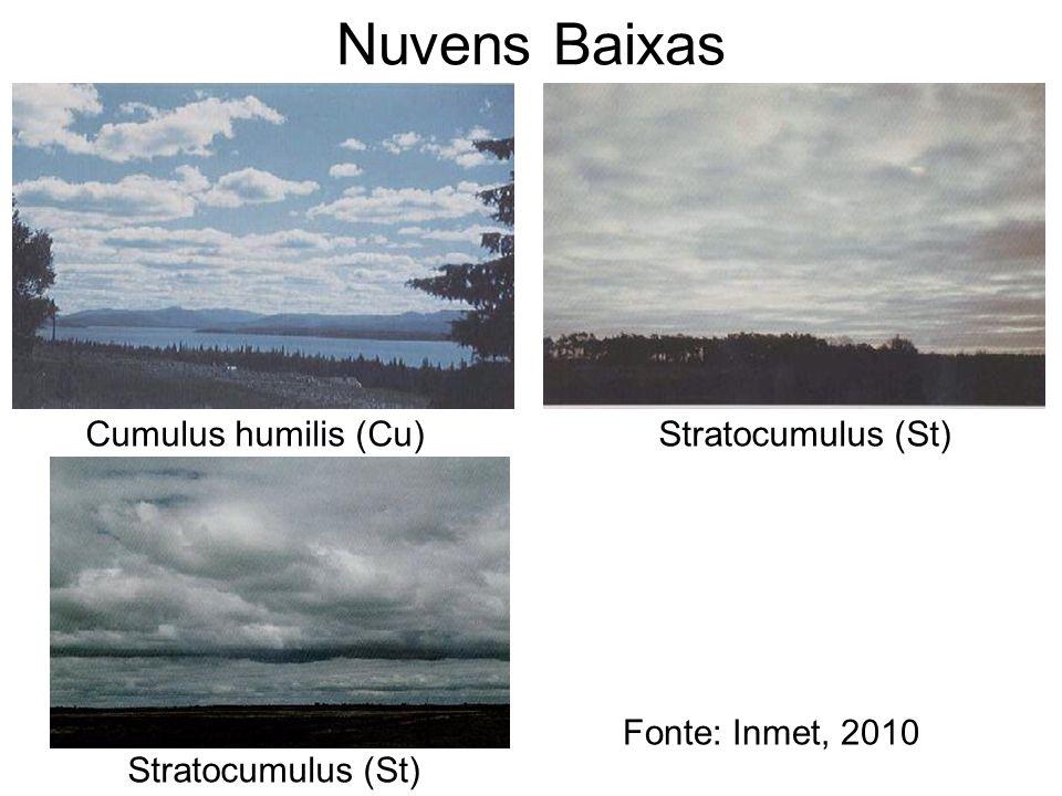 Nuvens Baixas Cumulus humilis (Cu) Stratocumulus (St)