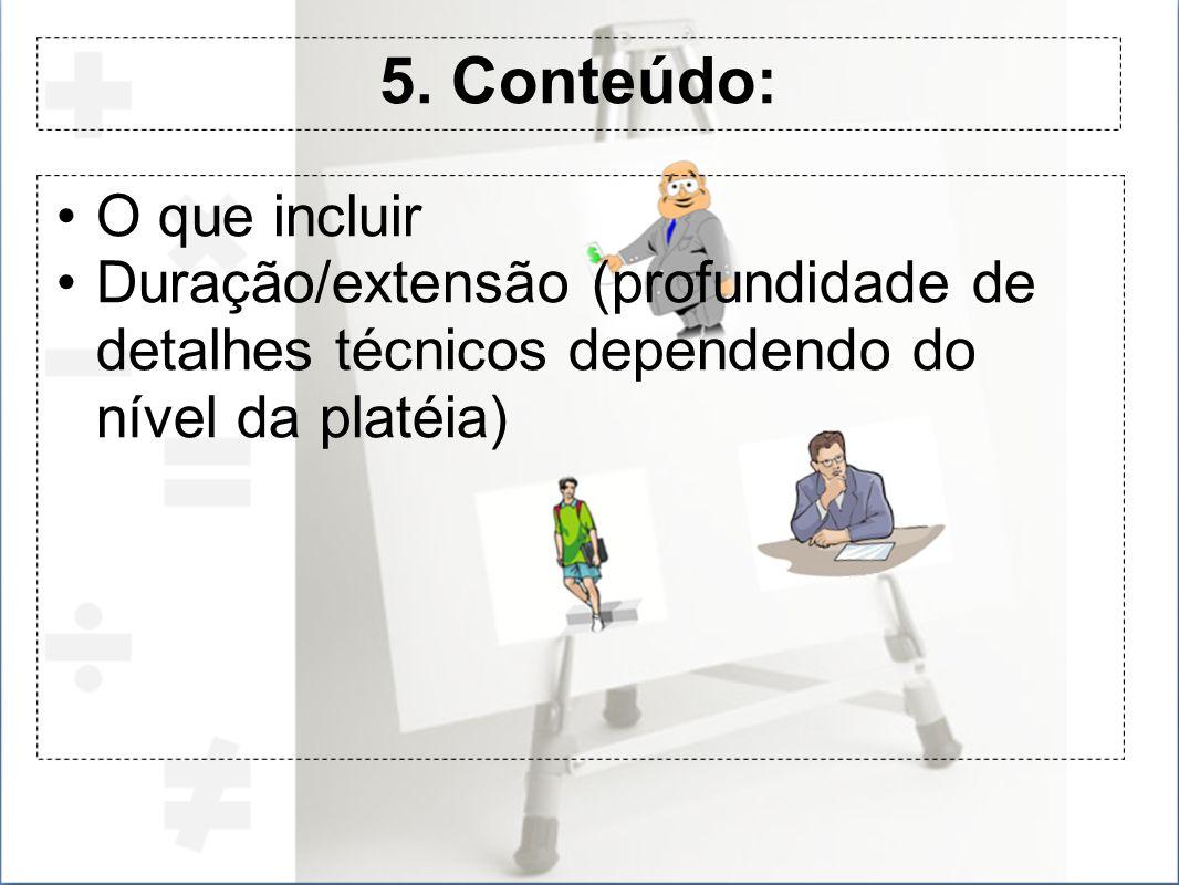 5. Conteúdo: O que incluir