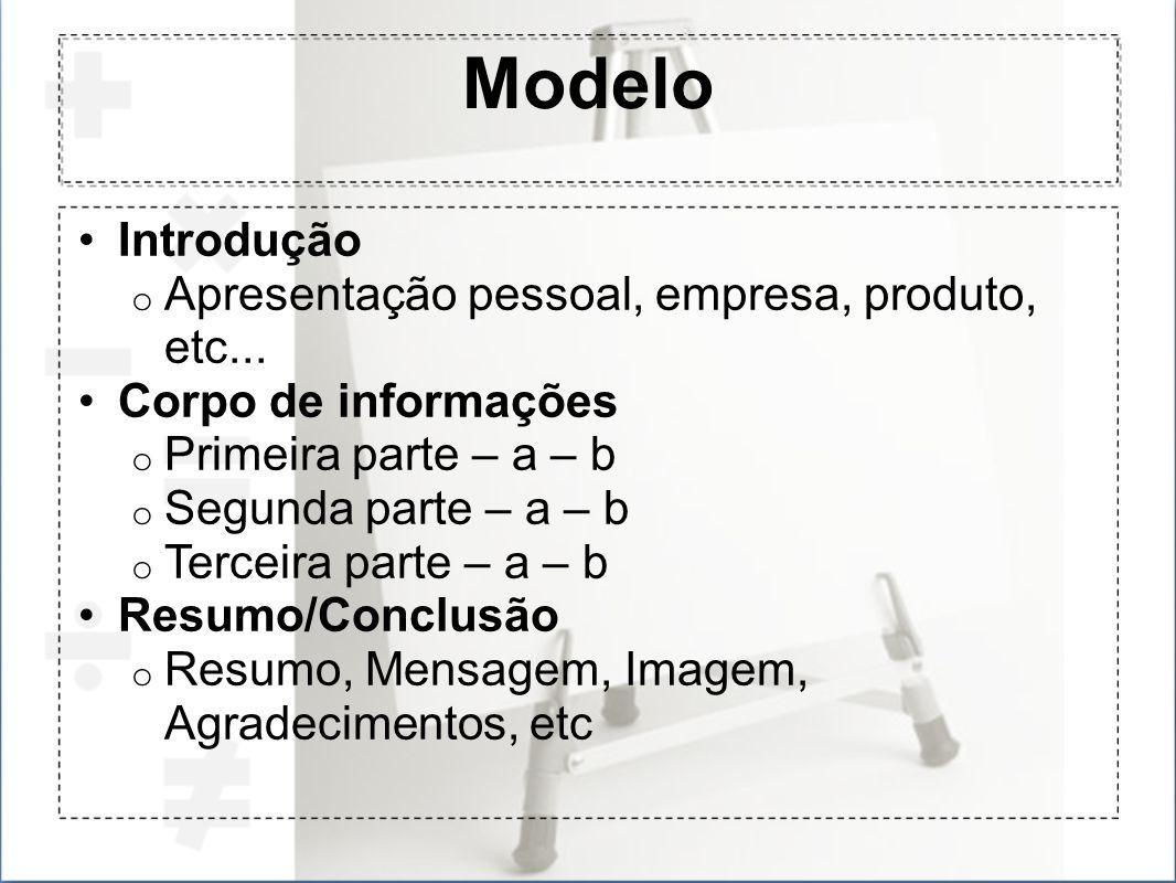 Modelo Introdução Apresentação pessoal, empresa, produto, etc...