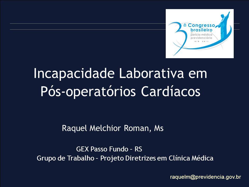 Incapacidade Laborativa em Pós-operatórios Cardíacos