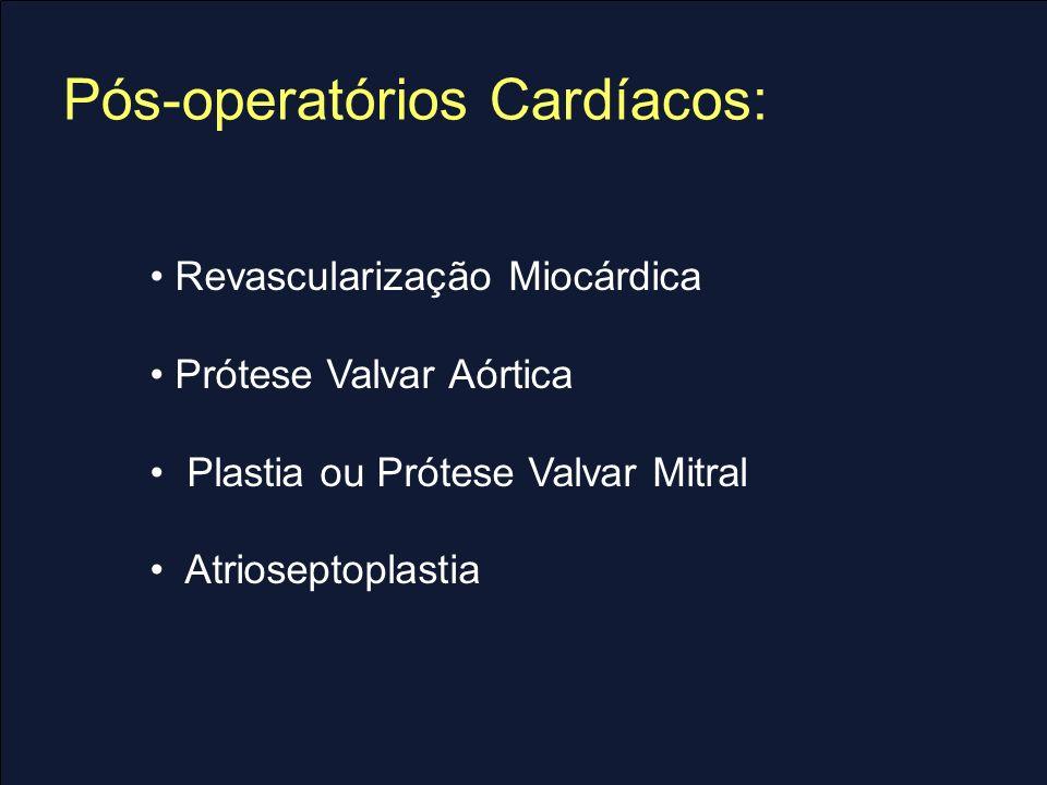 Pós-operatórios Cardíacos:
