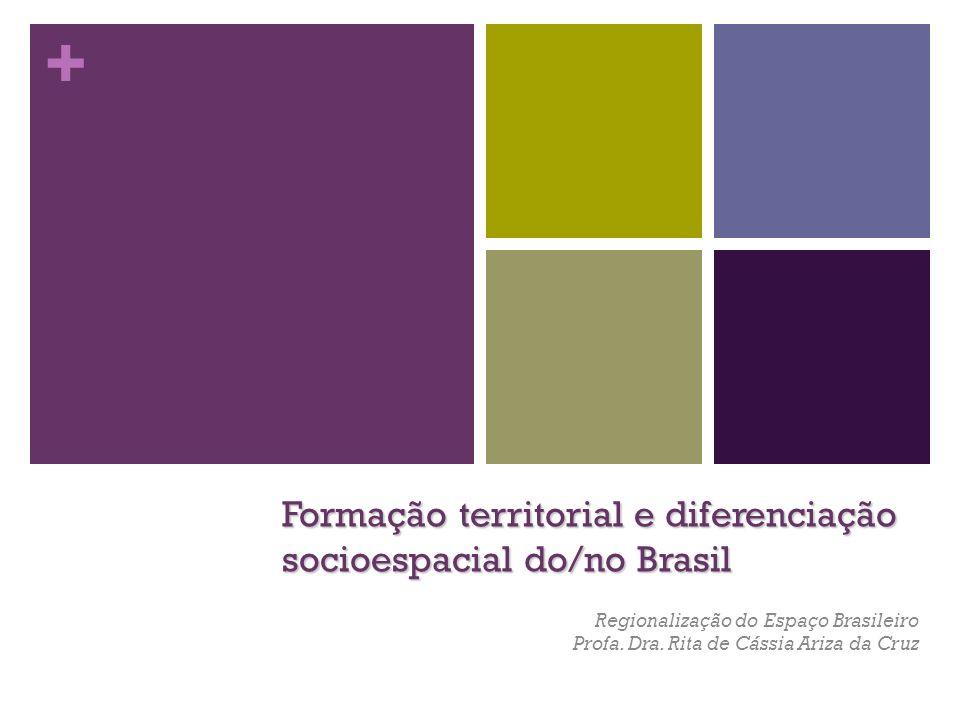Formação territorial e diferenciação socioespacial do/no Brasil