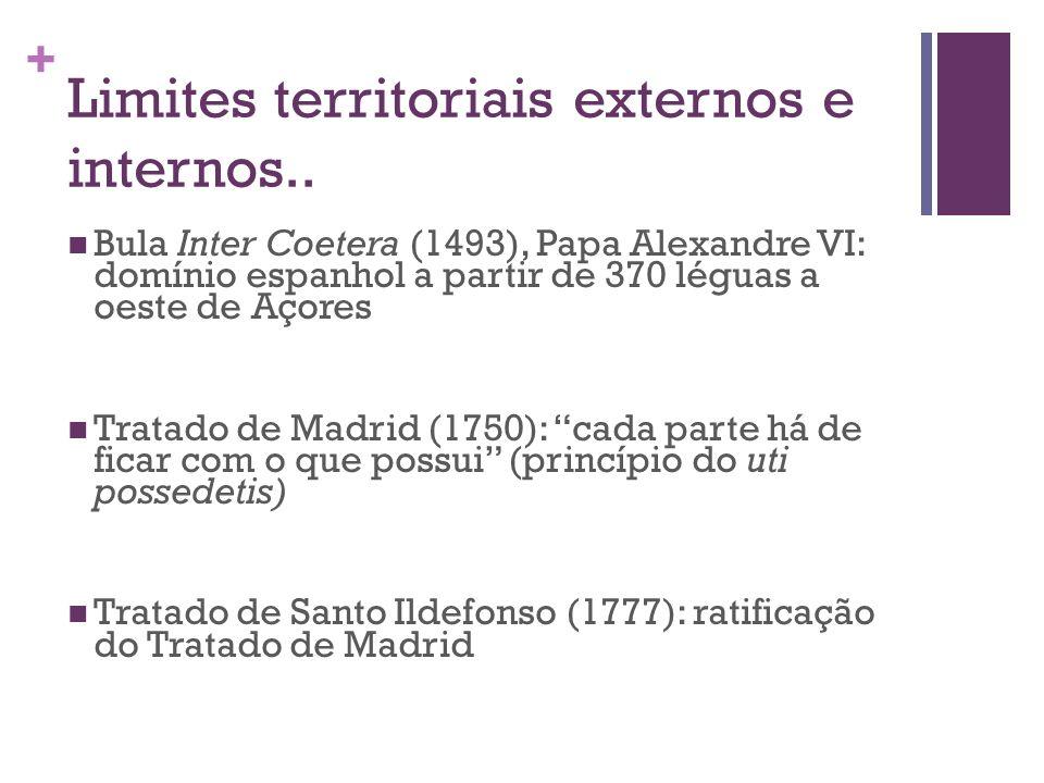 Limites territoriais externos e internos..