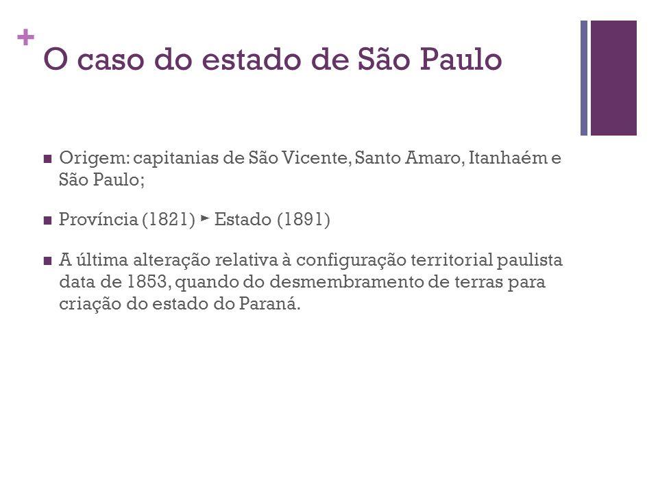 O caso do estado de São Paulo