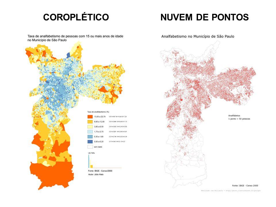 COROPLÉTICO NUVEM DE PONTOS