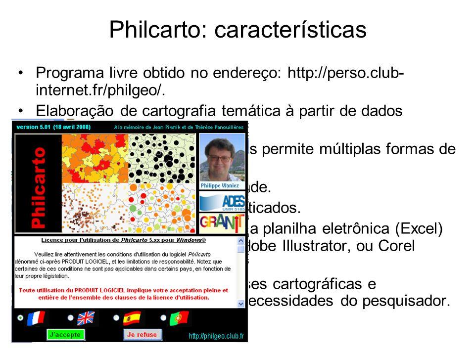 Philcarto: características
