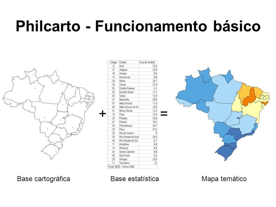 Philcarto - Funcionamento básico