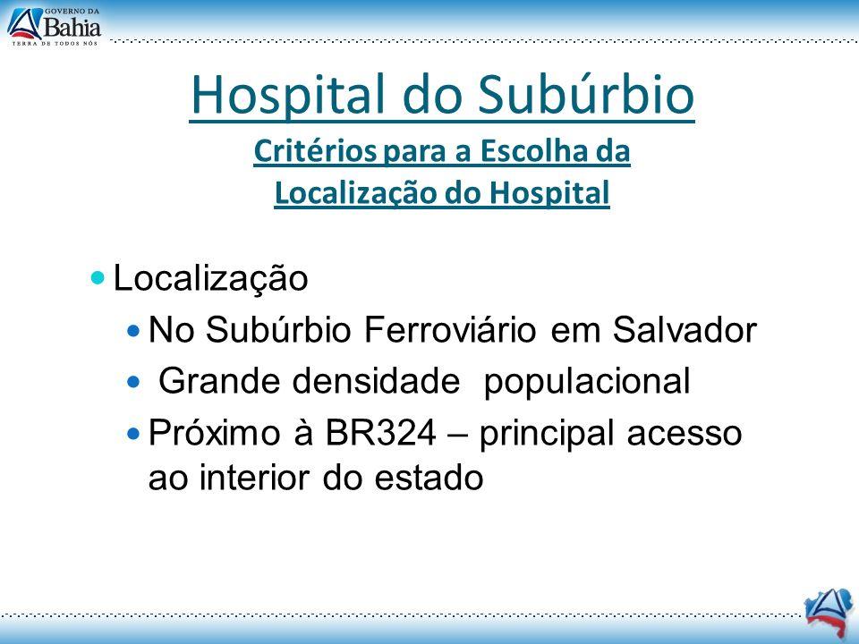 Critérios para a Escolha da Localização do Hospital