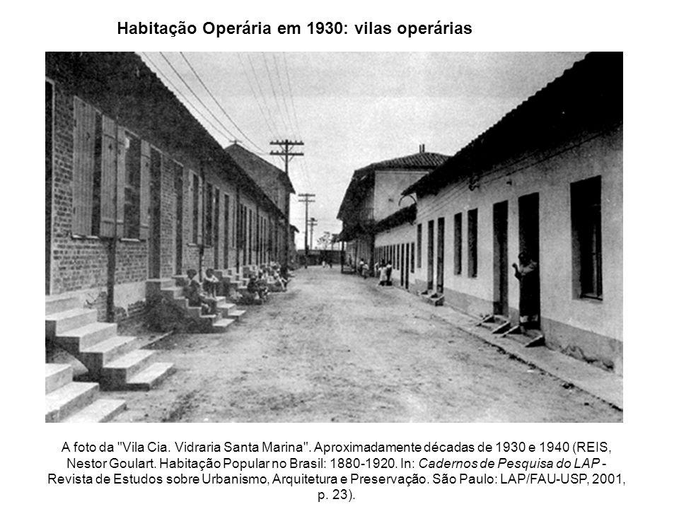 Habitação Operária em 1930: vilas operárias