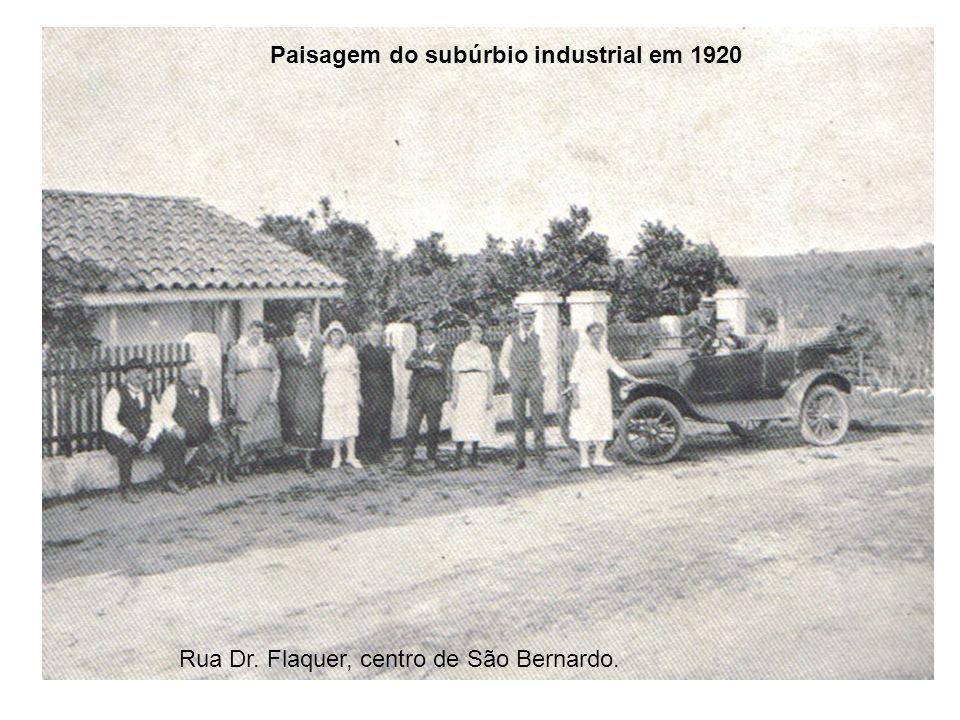 Paisagem do subúrbio industrial em 1920