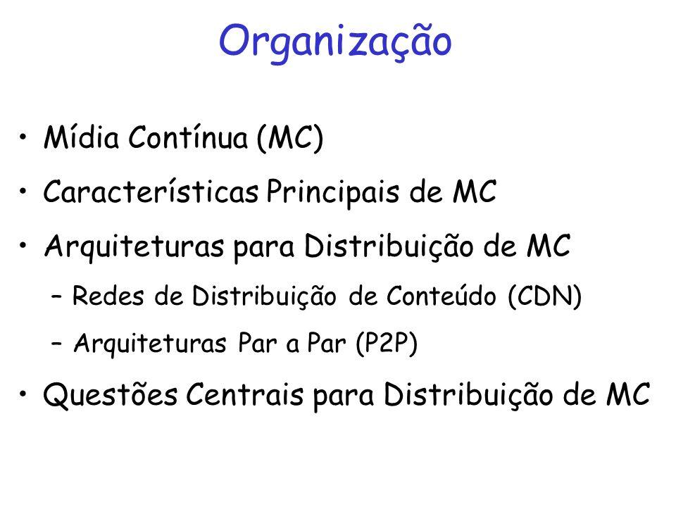 Organização Mídia Contínua (MC) Características Principais de MC