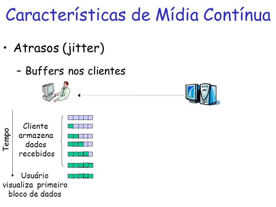 Características de Mídia Contínua