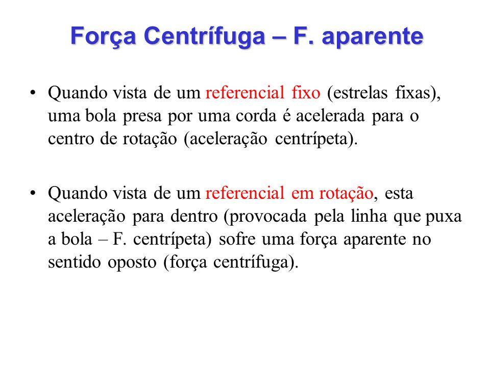 Força Centrífuga – F. aparente