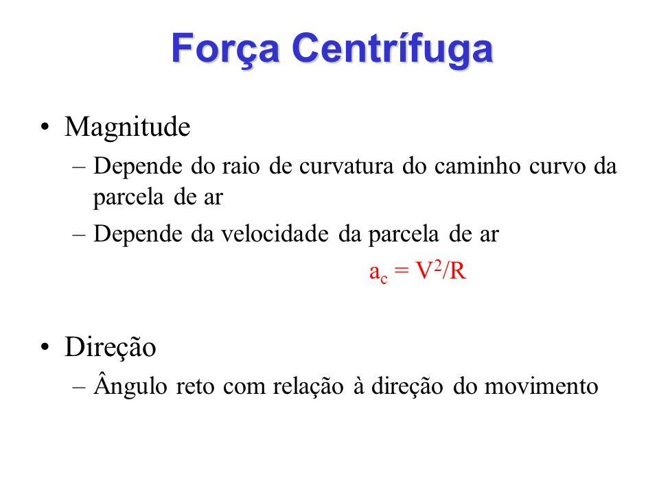 Força Centrífuga Magnitude Direção