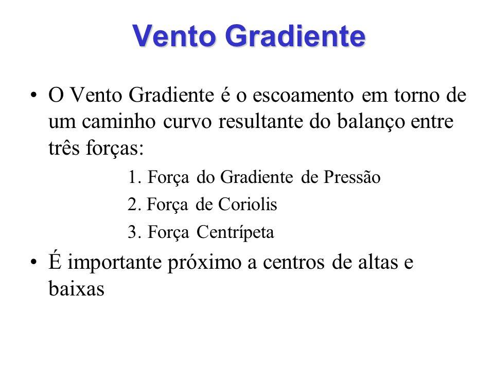 Vento Gradiente O Vento Gradiente é o escoamento em torno de um caminho curvo resultante do balanço entre três forças:
