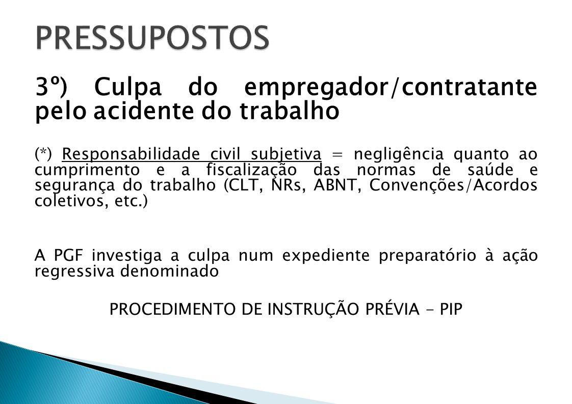 PROCEDIMENTO DE INSTRUÇÃO PRÉVIA - PIP