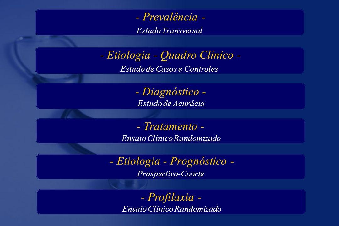 - Diagnóstico - Estudo de Acurácia