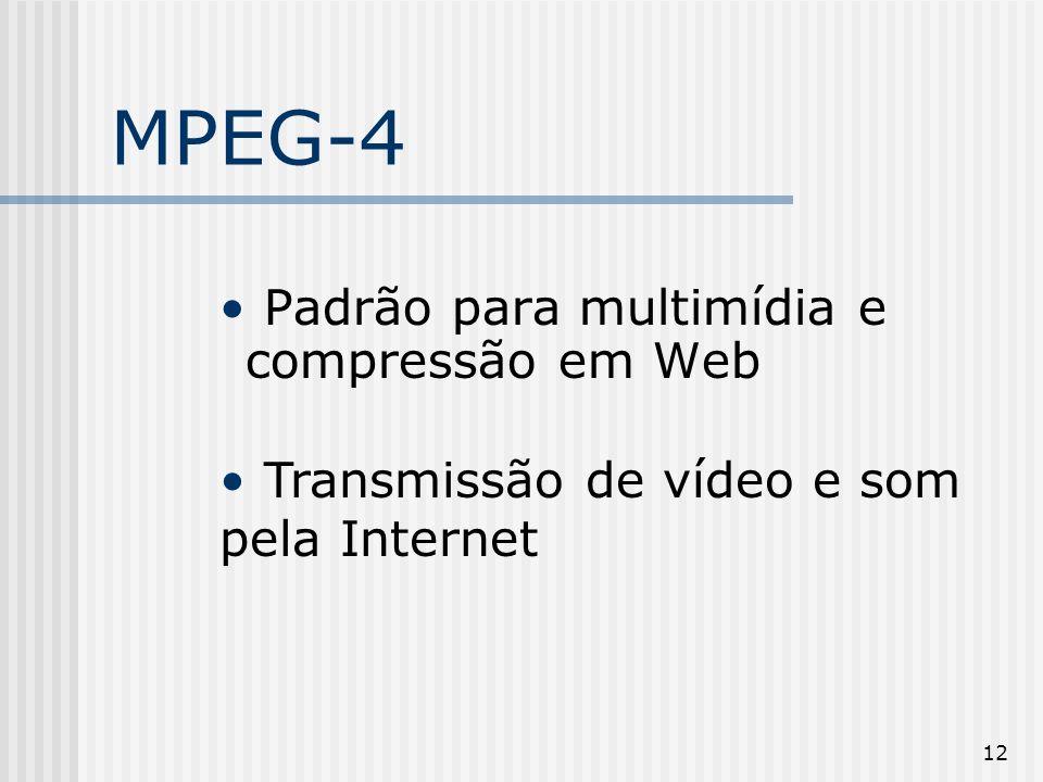 MPEG-4 Padrão para multimídia e compressão em Web