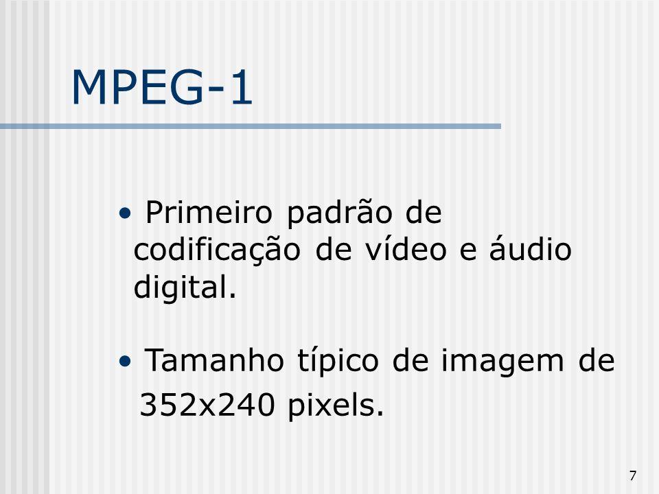 MPEG-1 Primeiro padrão de codificação de vídeo e áudio digital.