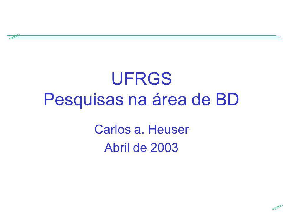 UFRGS Pesquisas na área de BD