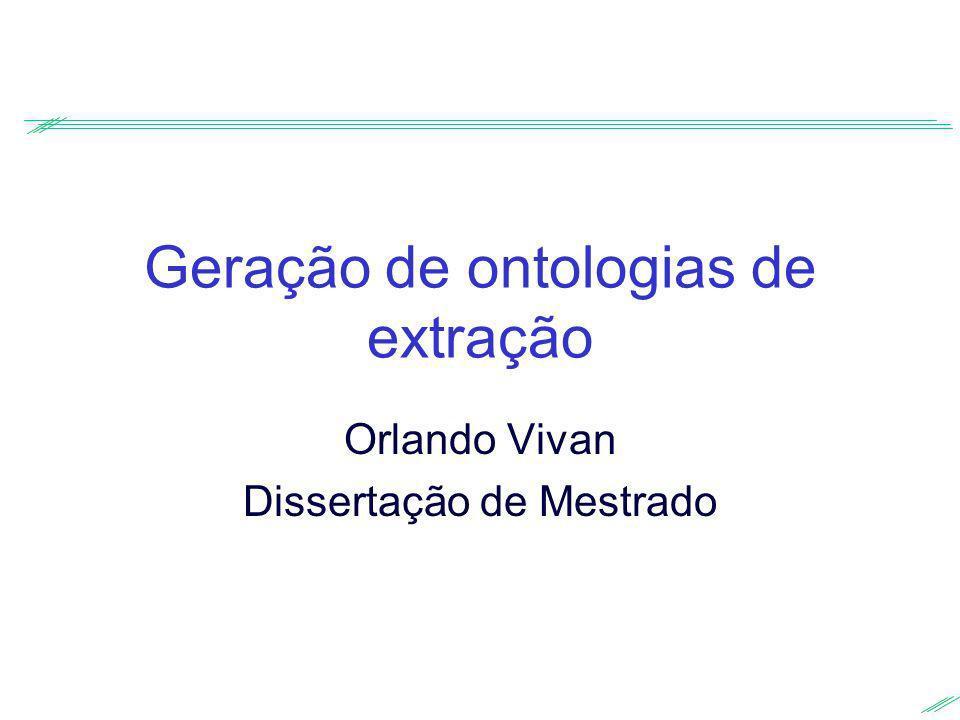 Geração de ontologias de extração