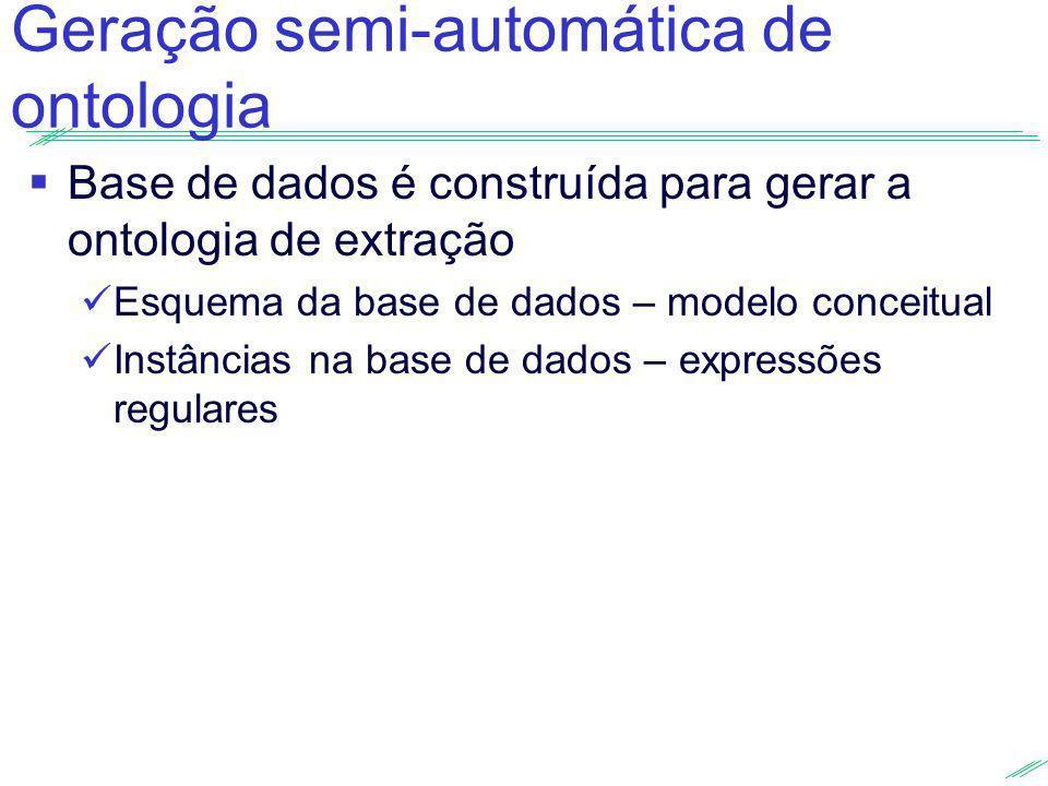 Geração semi-automática de ontologia