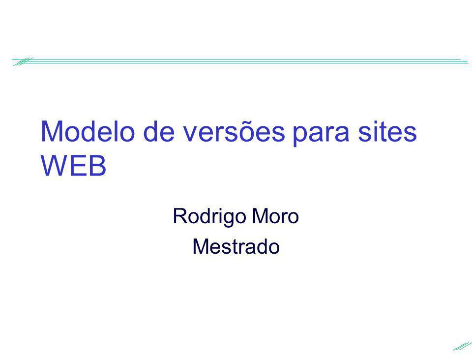 Modelo de versões para sites WEB