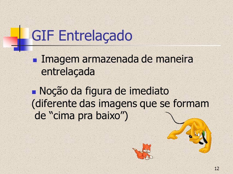 GIF Entrelaçado Imagem armazenada de maneira entrelaçada