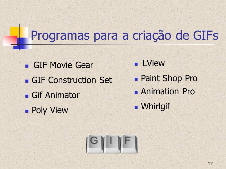 Programas para a criação de GIFs