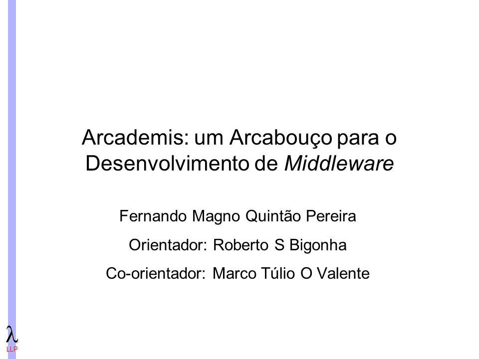 Arcademis: um Arcabouço para o Desenvolvimento de Middleware
