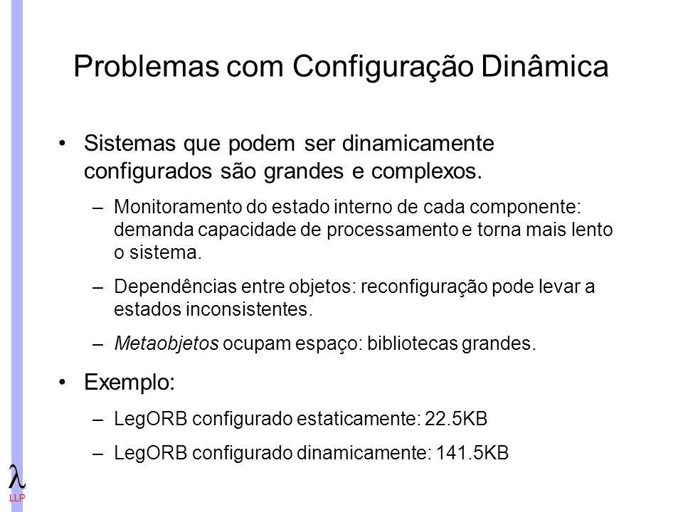 Problemas com Configuração Dinâmica
