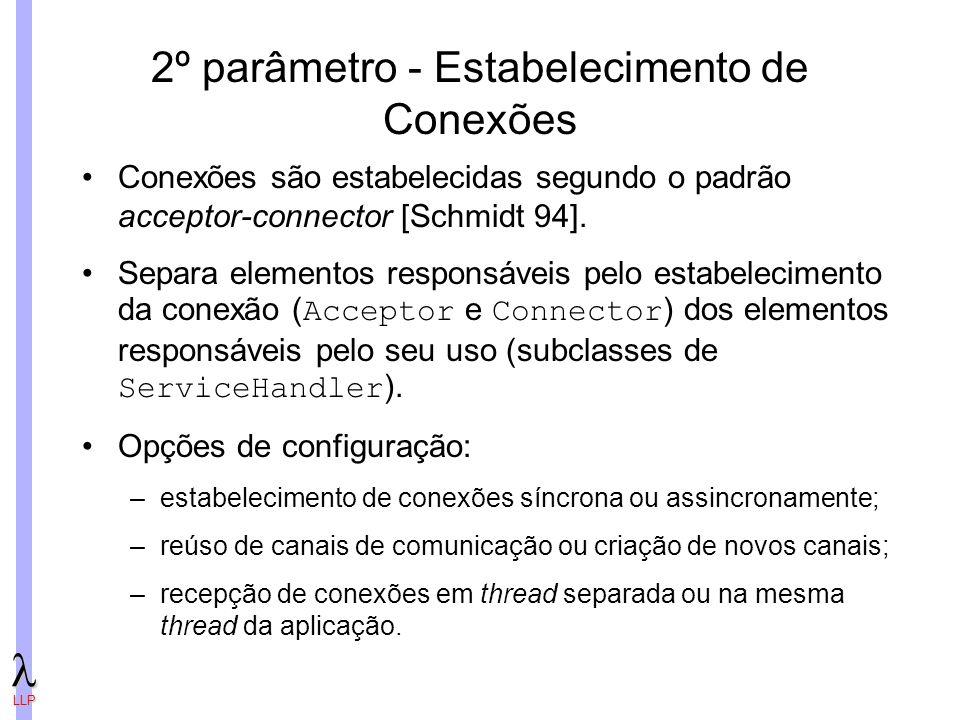 2º parâmetro - Estabelecimento de Conexões