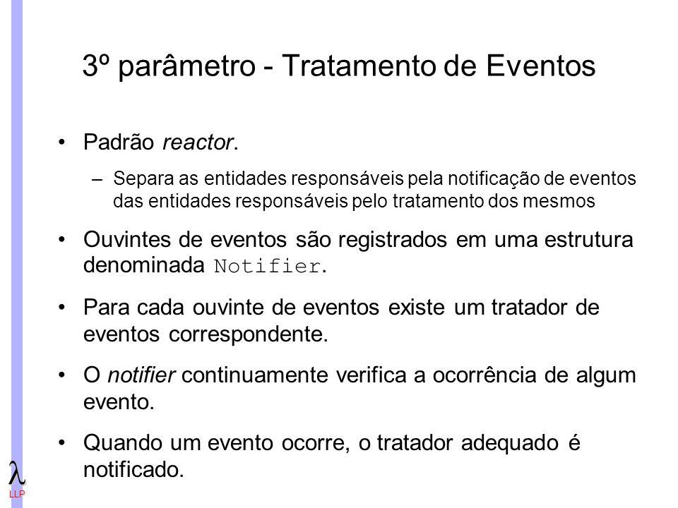 3º parâmetro - Tratamento de Eventos