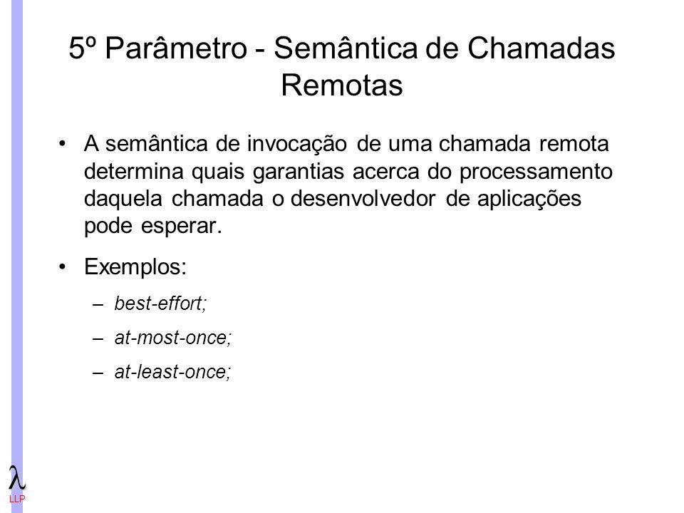 5º Parâmetro - Semântica de Chamadas Remotas