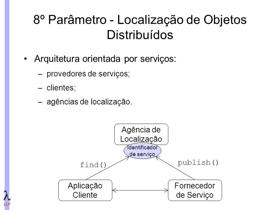8º Parâmetro - Localização de Objetos Distribuídos