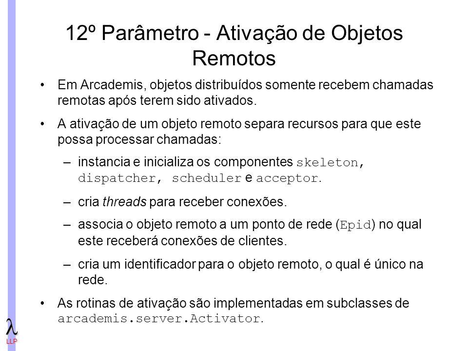 12º Parâmetro - Ativação de Objetos Remotos
