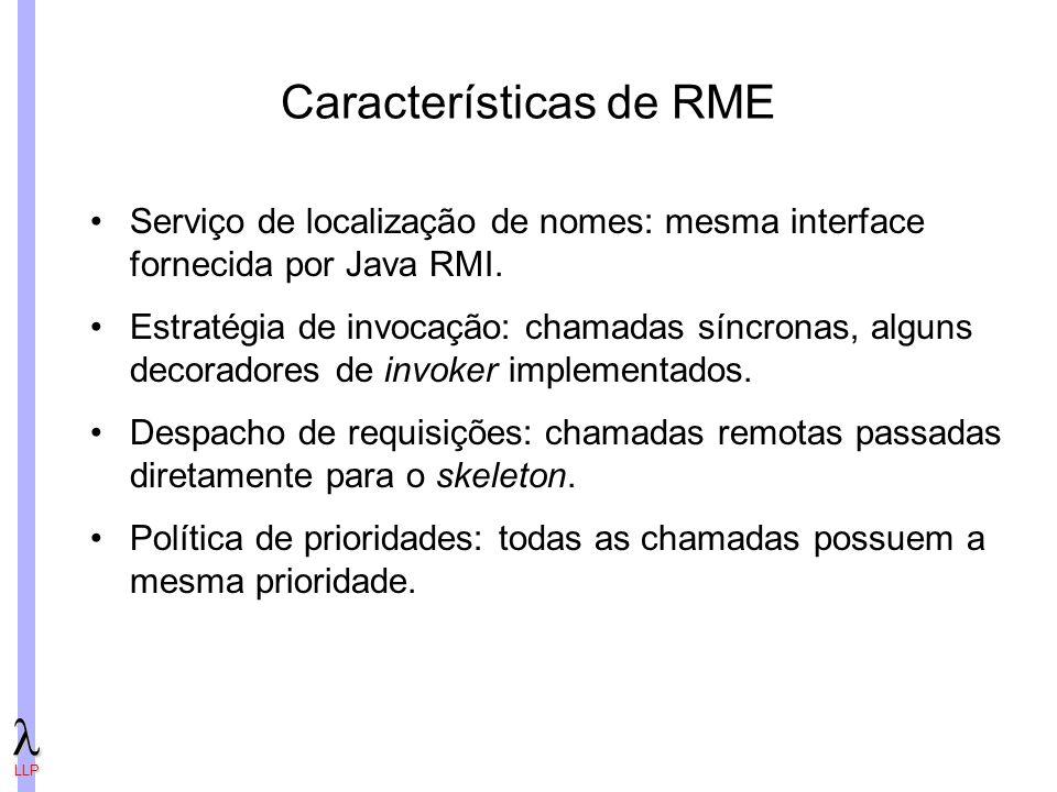 Características de RME