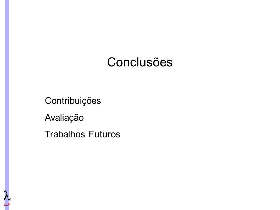 Conclusões Contribuições Avaliação Trabalhos Futuros